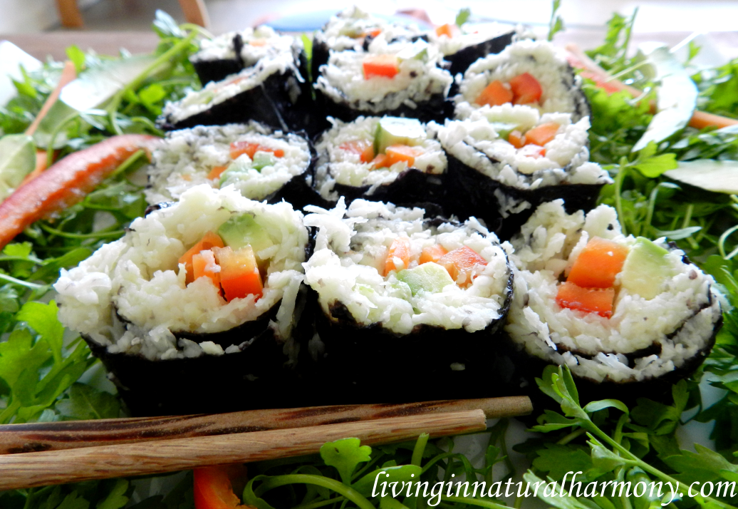 "Recipe: raw and vegan ""sushi"""