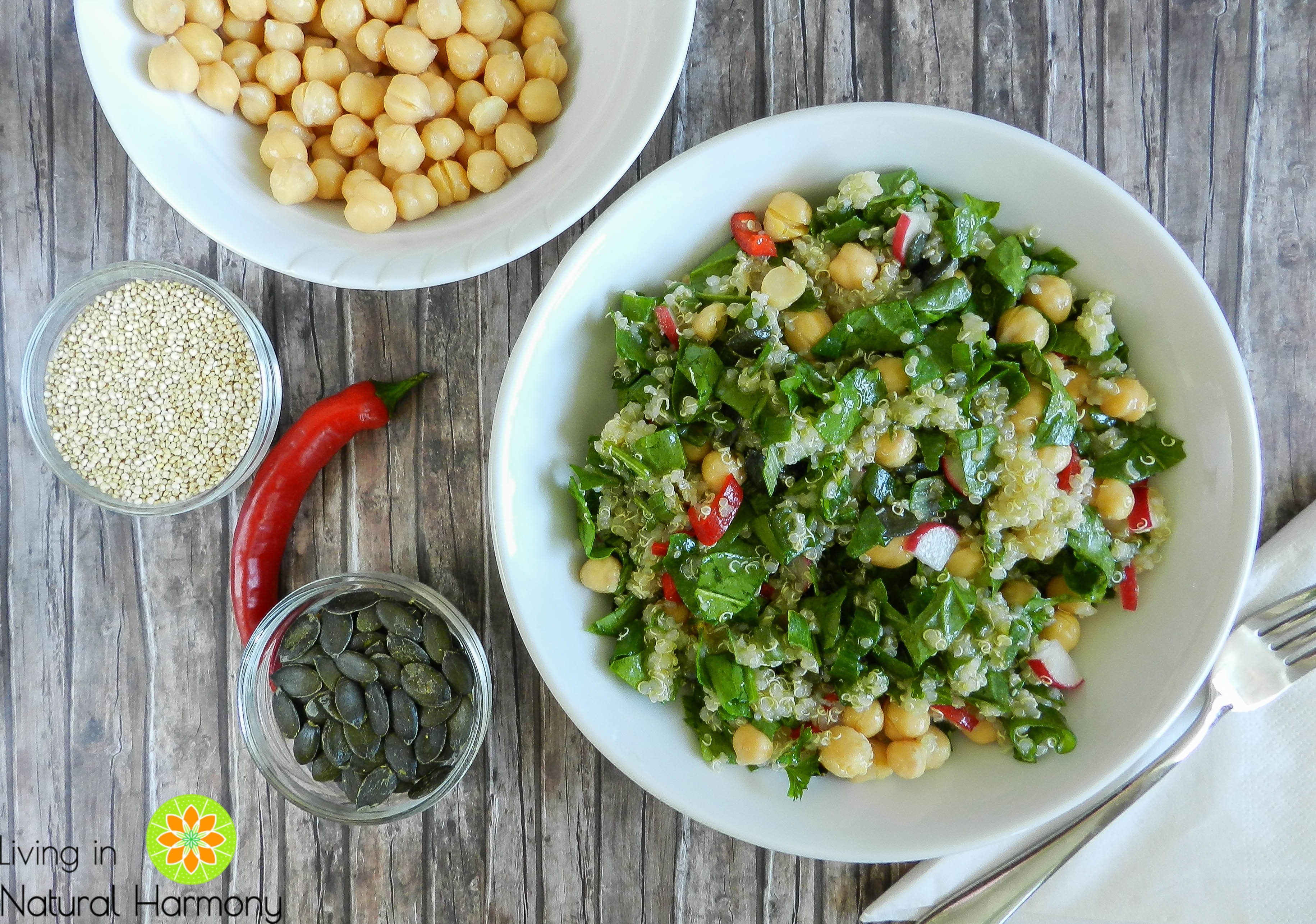 Recipe: quinoa and chickpea salad